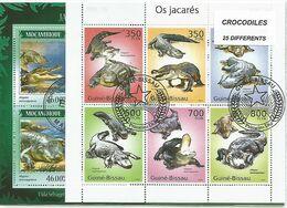 """Lot Timbres Thematique """" Crocodilles"""" - Reptiles & Amphibians"""