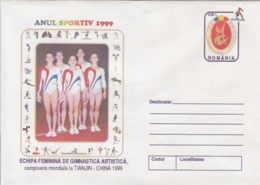 89473- WOMEN TEAM, GYMNASTICS, SPORTS, COVER STATIONERY, 1999, ROMANIA - Gymnastics