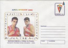 89475- MARIAN SIMION, CRINU OLTEANU, BOXING, SPORTS, COVER STATIONERY, 1999, ROMANIA - Pugilato