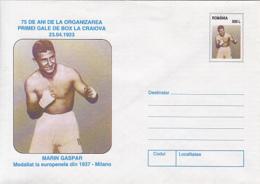 89477- MARIN GASPAR, BOXING, SPORTS, COVER STATIONERY, 1998, ROMANIA - Boxen