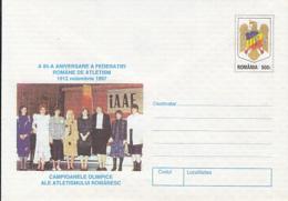 89482- ROMANIAN FEDERATION, ATHLETICS, SPORTS, COVER STATIONERY, 1997, ROMANIA - Leichtathletik