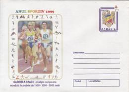 89483- GABRIELA SZABO, ATHLETICS, SPORTS, COVER STATIONERY, 1999, ROMANIA - Leichtathletik