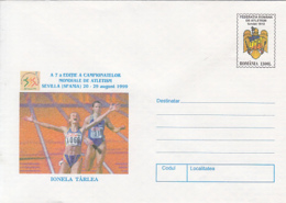 89485- IONELA TARLEA, ATHLETICS, SPORTS, COVER STATIONERY, 1999, ROMANIA - Leichtathletik