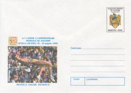 89486- MONICA IAGAR DINESCU, ATHLETICS, SPORTS, COVER STATIONERY, 1999, ROMANIA - Leichtathletik