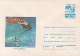 89494- PARACHUTTING, SPORTS, COVER STATIONERY, 1993, ROMANIA - Fallschirmspringen