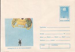 89495- UT 15 PARACOMMANDER PARACHUTE, PARACHUTTING, SPORTS, COVER STATIONERY, 1994, ROMANIA - Parachutting