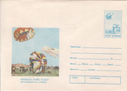 89496- AUREL VLAICU SOVERTH TYPE PARACHUTE, PARACHUTTING, SPORTS, COVER STATIONERY, 1994, ROMANIA - Fallschirmspringen