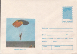89497- RL 12/2 PARACHUTE, PARACHUTTING, SPORTS, COVER STATIONERY, 1994, ROMANIA - Parachutting