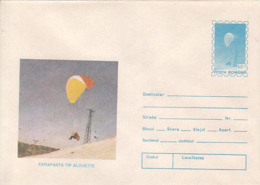 89498- ALOUETTE SKYGLIDER, PARACHUTTING, SPORTS, COVER STATIONERY, 1994, ROMANIA - Fallschirmspringen
