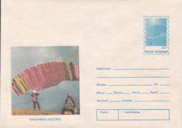 89499- KESTREL SKYGLIDER, PARACHUTTING, SPORTS, COVER STATIONERY, 1994, ROMANIA - Parachutting