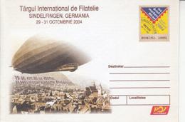 89555- FLIGHT OVER BRASOV, D LZ 127 ZEPPELIN, TRANSPORT, COVER STATIONERY, 2004, ROMANIA - Zeppelins
