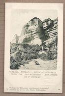 CPA GRECE - THESSALIE Les Météores Monastère De ST. NICOLAS ENTIER POSTAL + Timbre Incrusté Gauffré Postes Helléniques - Griekenland