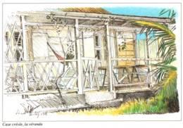 CPM - MARTINIQUE - CASE CREOLE - La VERANDA - ILLUSTRATION Vincent BALAŸ ... - Edition A.Exbrayat - Martinique