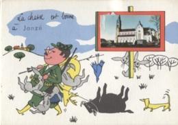 CPSM - JANZE - FANTAISIE Thème CHASSE ... ILLUSTRATION Jean De PREISSAC  - Edition F.L. - Francia