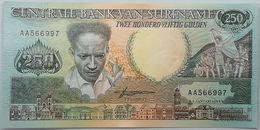 Billete Surinam. 1988. 250 Gulden. SC. Sin Circular. Posibilidad De Números Correlativos, Billete Sacado De Un Taco - Suriname