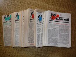 """Lot De 213 Numéros De La Revue  """" WALLONIE LIBRE """" Du 1er Mai 1981 Au 15 Mars 1992 ( Détail Voir Description) - Politiek"""
