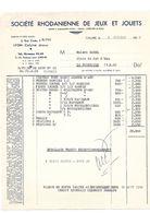 Société Rhodanienne De Jeux Et Jouets, Caluire 1958 - France