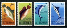OUGANDA 1977 N° 126/129 ** Neufs MNH Superbes C 4,50 € Faune Poissons Pêche Espadon Perche Mkaira Indica Fishing - Uganda (1962-...)