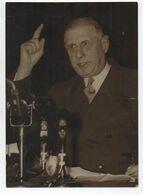 PHOTO DE PRESSE GENERAL DE GAULLE (FORMAT ~13x18cm) - Politische Und Militärische Männer