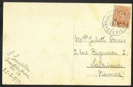 Belgique - Obl.fortune 1919 - N°135 Sur Carte De DINANT Vers Salzinnes - Obl. BELGIQUE*8*BELGIE - Rocher Bayard - Fortuna (1919)