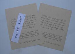FAIRE-PART MARIAGE 1925 THY De MILLY # MONSPEY Sologny Saône Loire 69-Jullié * - Annunci Di Nozze