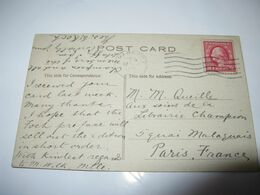 CARTE AUTOGRAPHE SIGNEE DE THEO. WESLEY KOCH 1920 BIBLIOTHECAIRE USA MICHIGAN CONGRES TRADUCTEUR FOCH - Autographes