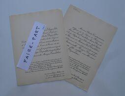 FAIRE-PART MARIAGE 1954 DEGUELDRE # CANDELIER LEFEUR COUTURIEUX RIVIERE Paris * - Annunci Di Nozze