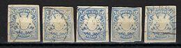 ALLEMAGNE Bavière Ca.1900:  Lot De 5 Découpés D'entiers De 20pf - Bayern
