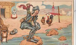 2 Cartoline  - Postcard /  Non Viaggiate - Unsent /  Don Chisciotte - La Partenza Del Crociato. C. Sarri. - Märchen, Sagen & Legenden