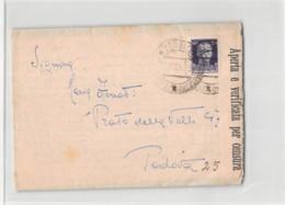 14269 01 POTENZA SCUOLA A.U.C. D'ARTIGLIERIA X PADOVA - CON TESTO - CENSURA - 1900-44 Victor Emmanuel III