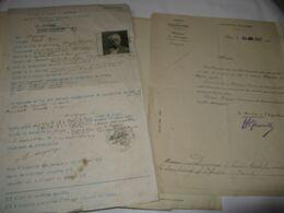 PIECE AUTOGRAPHE SIGNEE DE HENRI DEGEORGE 1939 ARCHITECTE PARIS PERMIS CONDUIRE + PLAN + NOMINATIONS - Autographes