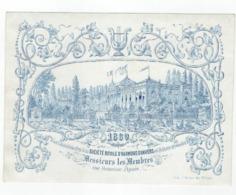 1 Carte Porcelaine  Société Royale D'Harmonie D'ANVERS  1869  Pour Messieurs Les Membres Une Heureuse Année - Porzellan