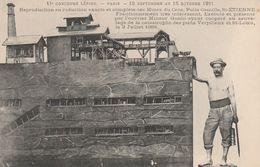 CPA:11e CONCOURS LÉPINE PARIS 1911 MINES DU CROS PUITS CAMILLE SAINT ÉTIENNE OUVRIER MINEUR GONIN - Ansichtskarten