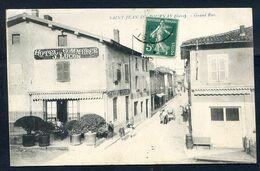CP ANCIENNE REF050820 ..  SAINT JEAN DE BOURNAY, Grand'Rue , Hotel Du Commerce J.LUCON - Francia