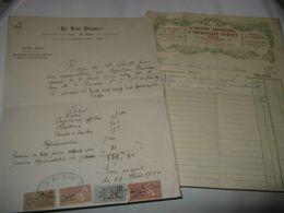 PIECE AUTOGRAPHE SIGNEE DE MAURICE THUET 1920 ACTEUR COMEDIE FRANCAISE METTEUR EN SCENE TROUPE THEATRE PARIS NEUILLY - Handtekening