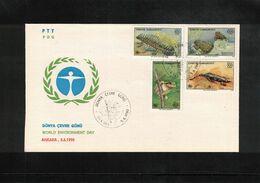 Turkey 1990 Amphibians FDC - Frogs