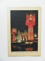 Berlin-Brandenburger Tor Im Flaggenschmuck-Nachts - Weltkrieg 1939-45