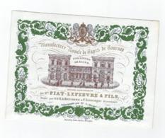 1 Carte Porcelaine Manufacture    Royale De Tapis De Tournay Mrs. Piat - Lefèvre & Fils   Lith.du Roi Daveluy Bruges - Porzellan