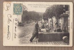 CPA 54 - BLENOD-les-TOUL - BLENOD Les TOUL - Fontaine - Rue De La Barre TB PLAN ANIMATION Lavandières 1904 - Autres Communes