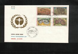 Turkey 1991 Snakes FDC - Snakes