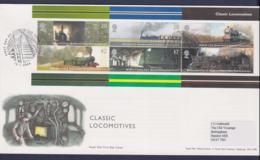 Great Britain FDC 2004 Classic Locomotives Souvenir Sheet  - From York (NB**LAR9-161) - Trains