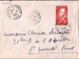 TP N° 880 SUR LETTRE DE ST AYGULF / 2.8.51 - 1921-1960: Modern Period
