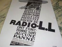 ANCIENNE PUBLICITE MIRACLE DE LA TSF  MERMOZ RADIO LL 1930 - Radio & TSF