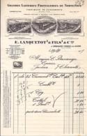 14 . CALVADOS . FACTURE / LETTRE . ORBIQUET-ORBEC . LAITERIE FROMAGERIE LANQUETOT . 1917 - France