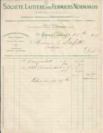 14 . CALVADOS . FACTURE / LETTRE . MORTEAUX COULIBOEUF . STE LAITIERE DES FERMIERS NORMANDS . 1905 - France