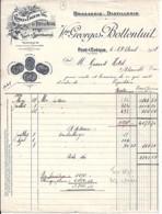 14 . CALVADOS . FACTURE / LETTRE . PONT L'EVEQUE . BRASSERIE DISTILLERIE Vve BOTTENTUIT . 1937 - France