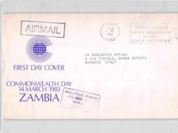 14400 01 FDC ZAMBIA NDOLA 1983 - Zambia (1965-...)