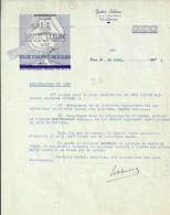14 . CALVADOS . FACTURE / LETTRE . VIRE . DISTILLERIE CIDRE ET CALVADOS GASTON LEBLANC . 1935 - France