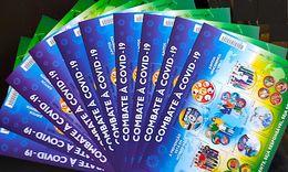 Brazil Stamp 10 Mini Sheet Combat Pandemic À COVID-19 Saúde Healthy Map Profession Family 2020 - Ungebraucht