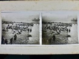 Photo STEREO Ww1 WwII 1914 1918 : La Grande Halte _ POILUS _ N°2682 - War, Military
